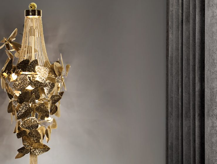 Luxurious Floor Lighting Swarovski Crystals