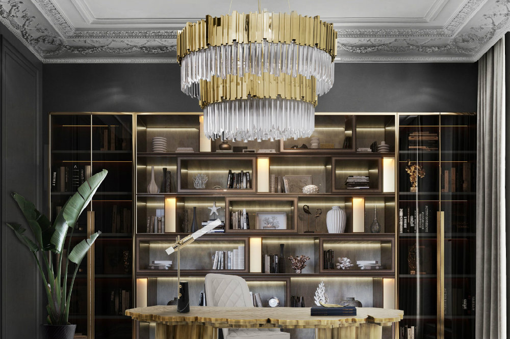 Luxury Home Office Design Ideas That Will Inspire Productivity Modern Chandeliers