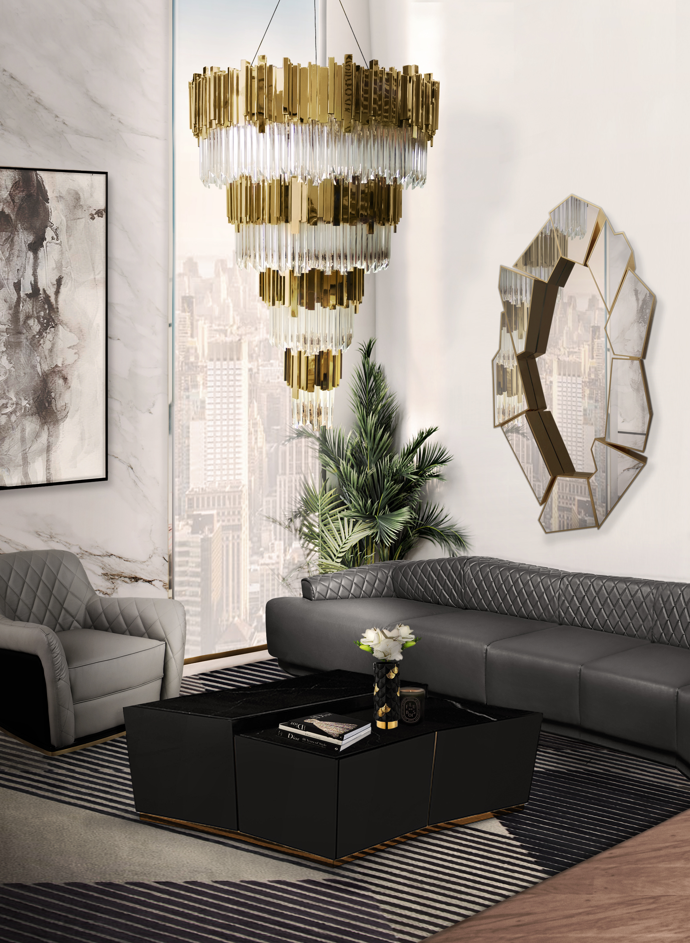 Image of: 5 Modern Chandeliers For Contemporary Living Rooms