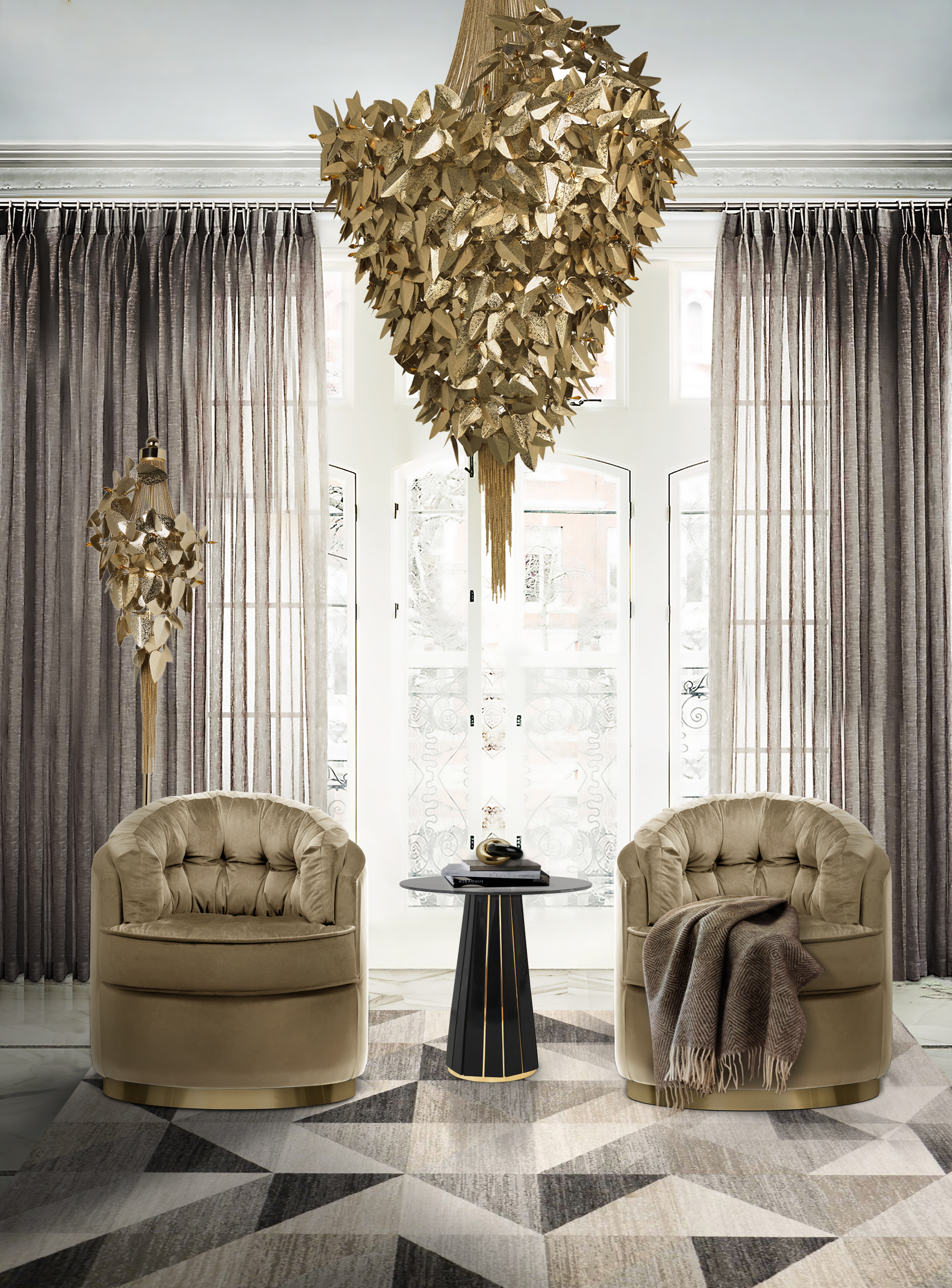 5 Modern Chandeliers For Contemporary Living Rooms