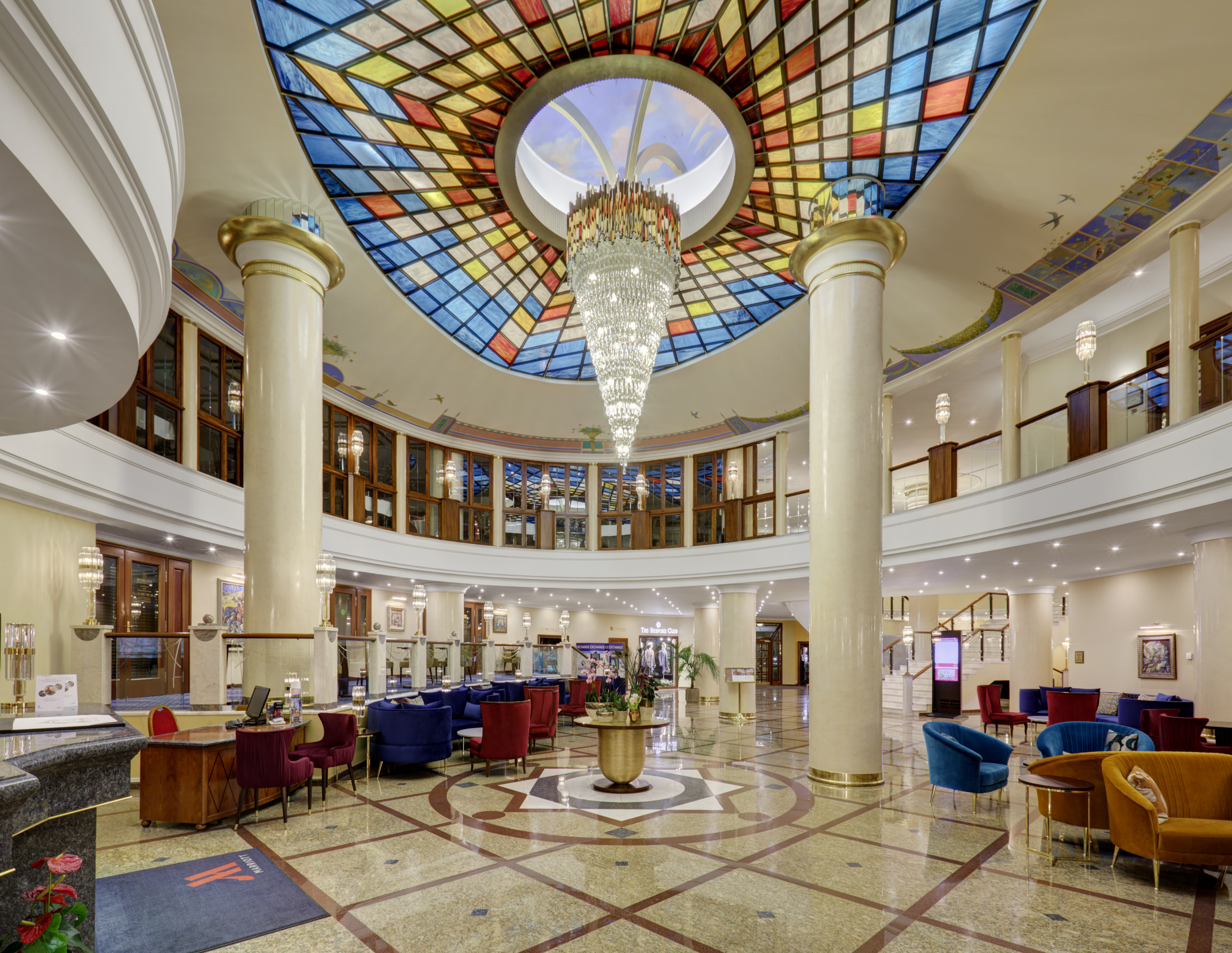 Luxury Chandeliers At Marriot Royal Aurora Hotel