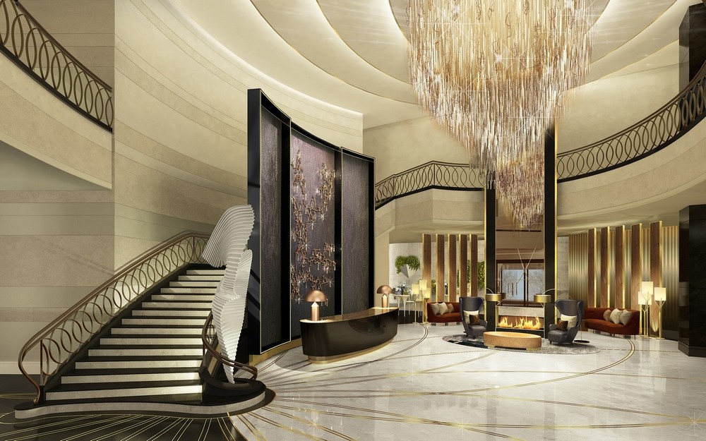 10 of the Most Sparkling Luxury Hotel Lobbies in the World 10