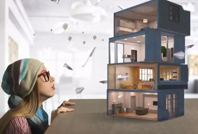 Visualization, presentation, and delivery of work interior design by a light designer