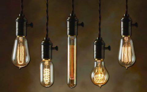 Modern interpretation of an Edison lamp