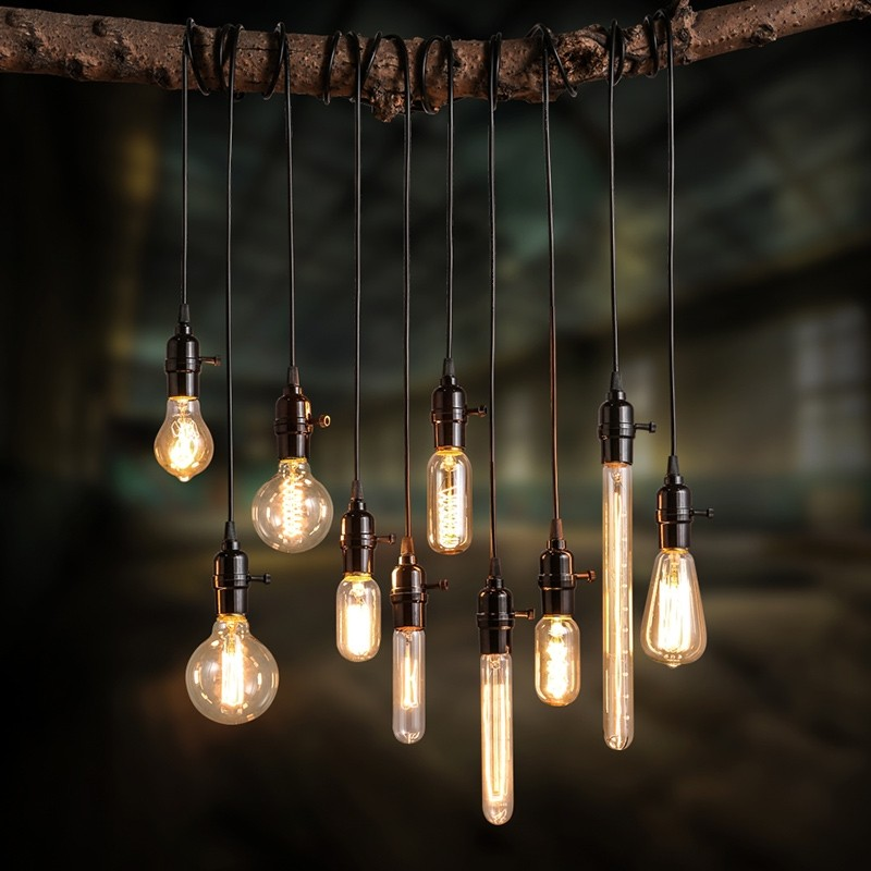 Pendant lights with wires-suspensions