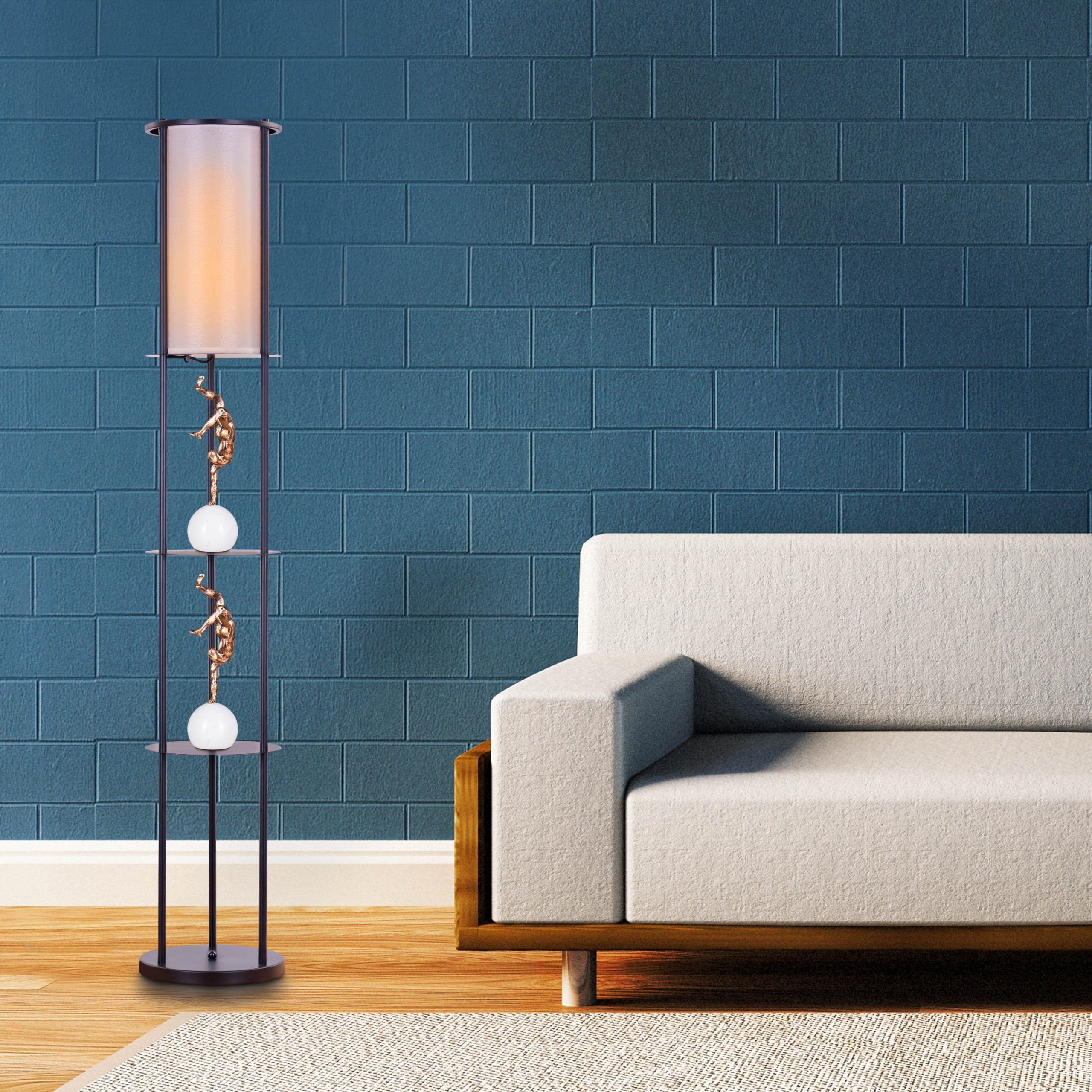 floor lamps with a shelf