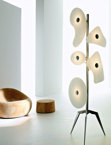 Floor lamps with unique shapes