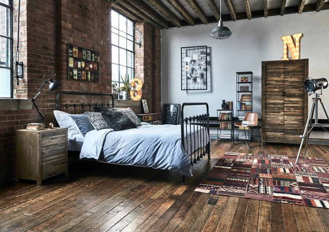industrial style bedside lamps