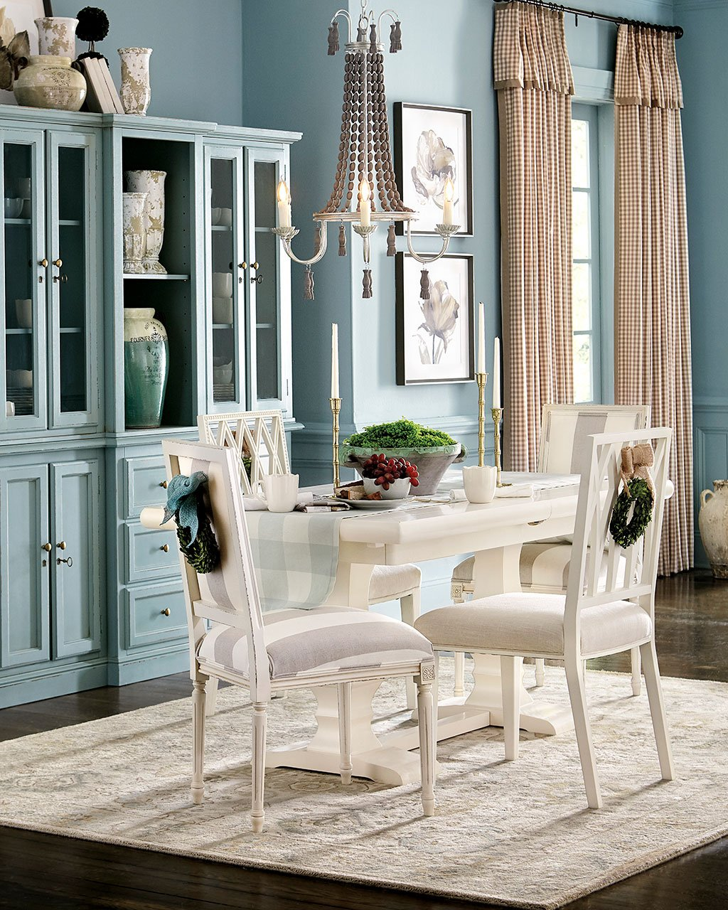 lighting errors, at what distance hang the chandelier above the dining table