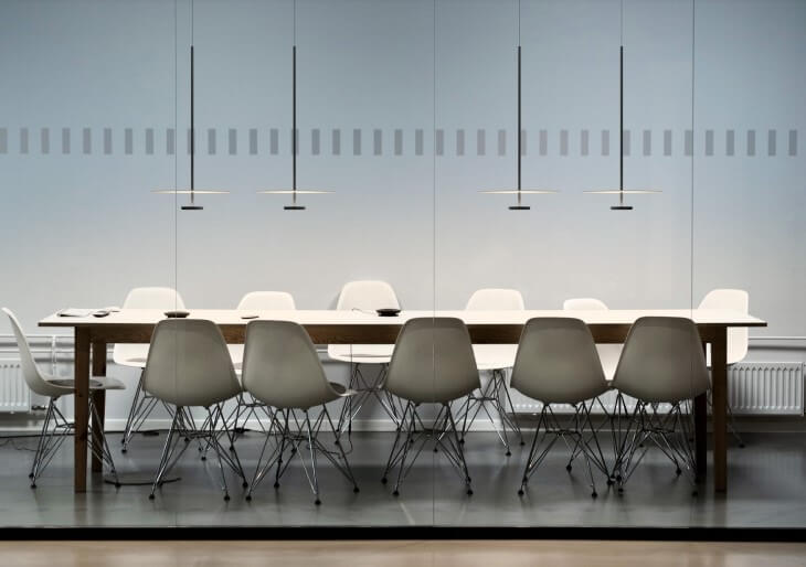 Flat luminaires from the new Vibia collection
