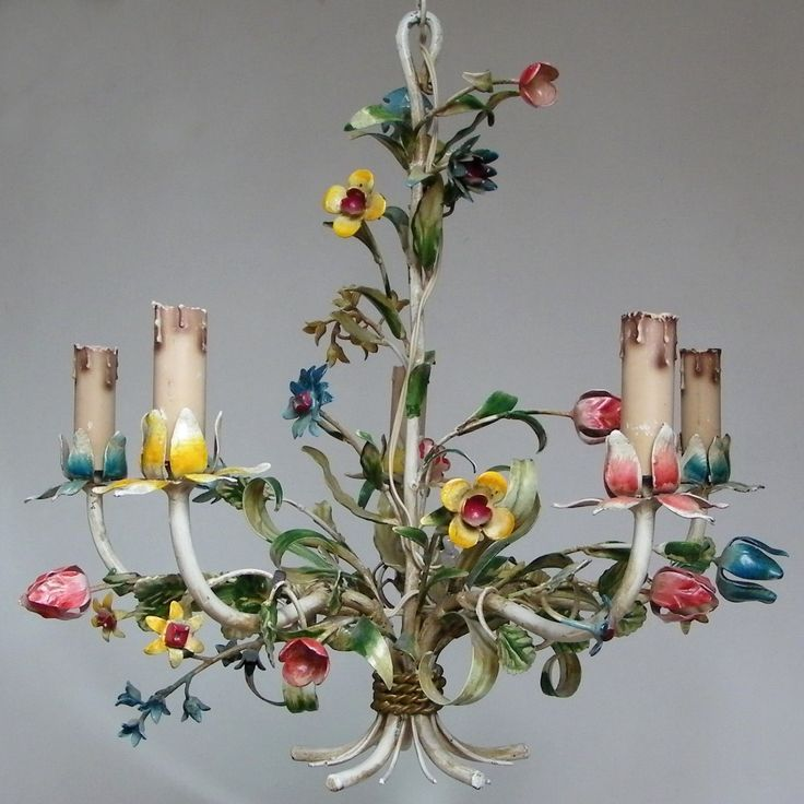 lamps in the style of floristry or Provence
