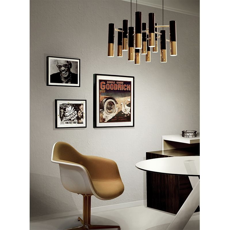 Chandeliers and Suspensions: Black & Gold Is Always a Good Idea